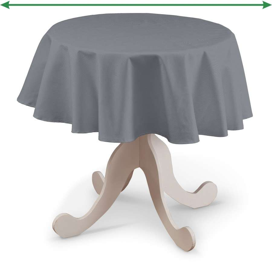 Round tablecloth in collection Cotton Panama, fabric: 702-07