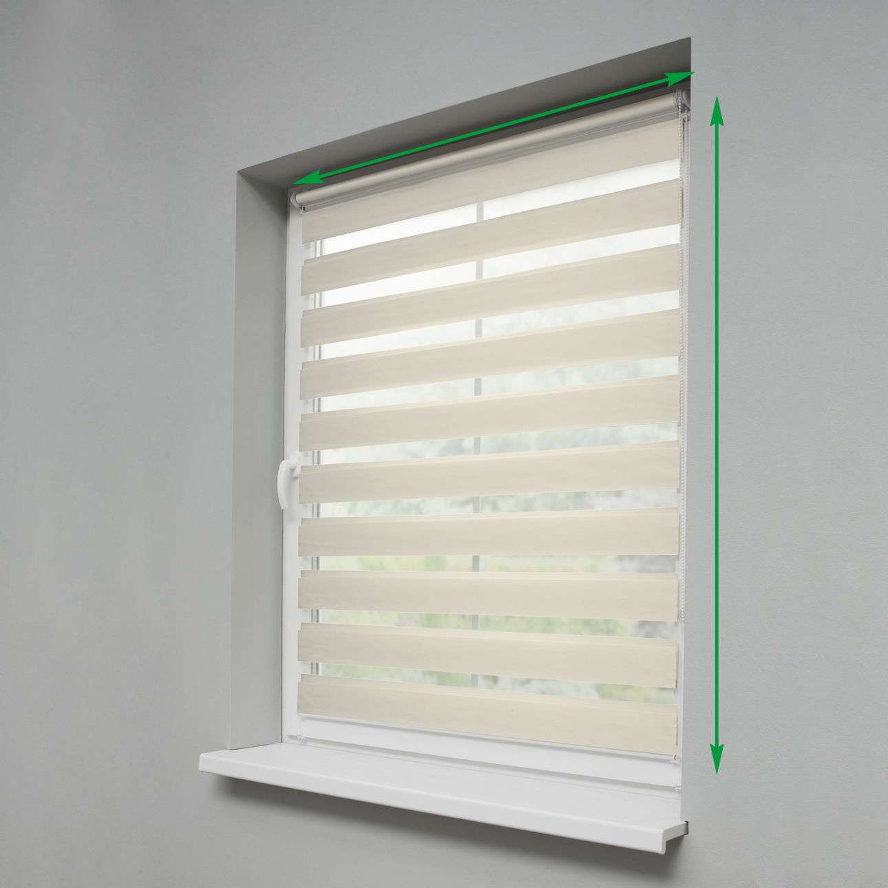 Mini Day & Night Venetian roller blind (compact design for fitting inside window recess) in collection Roller blinds Day & Night (Venetian blind), fabric: 0105