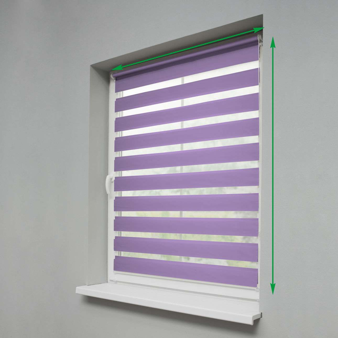 Mini Day & Night Venetian roller blind (compact design for fitting inside window recess) in collection Roller blinds Day & Night (Venetian blind), fabric: 0109