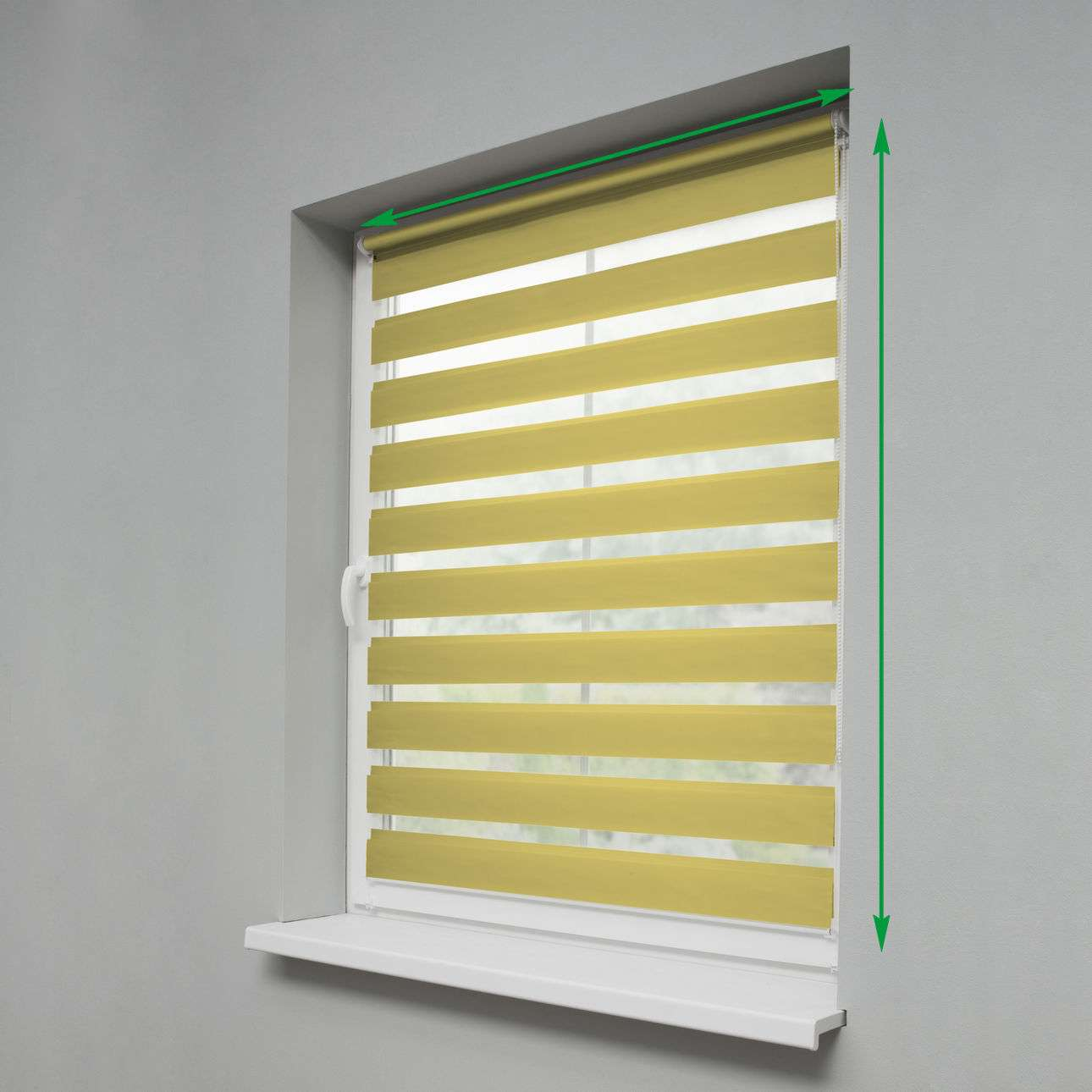 Mini Day & Night Venetian roller blind (compact design for fitting inside window recess) in collection Roller blinds Day & Night (Venetian blind), fabric: 1206