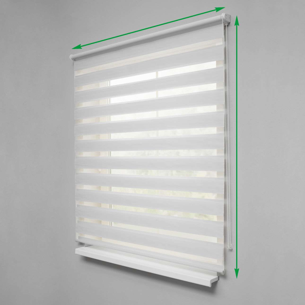 Day & Night Venetian roller blind in collection Roller blinds Day & Night (Venetian blind), fabric: 0101