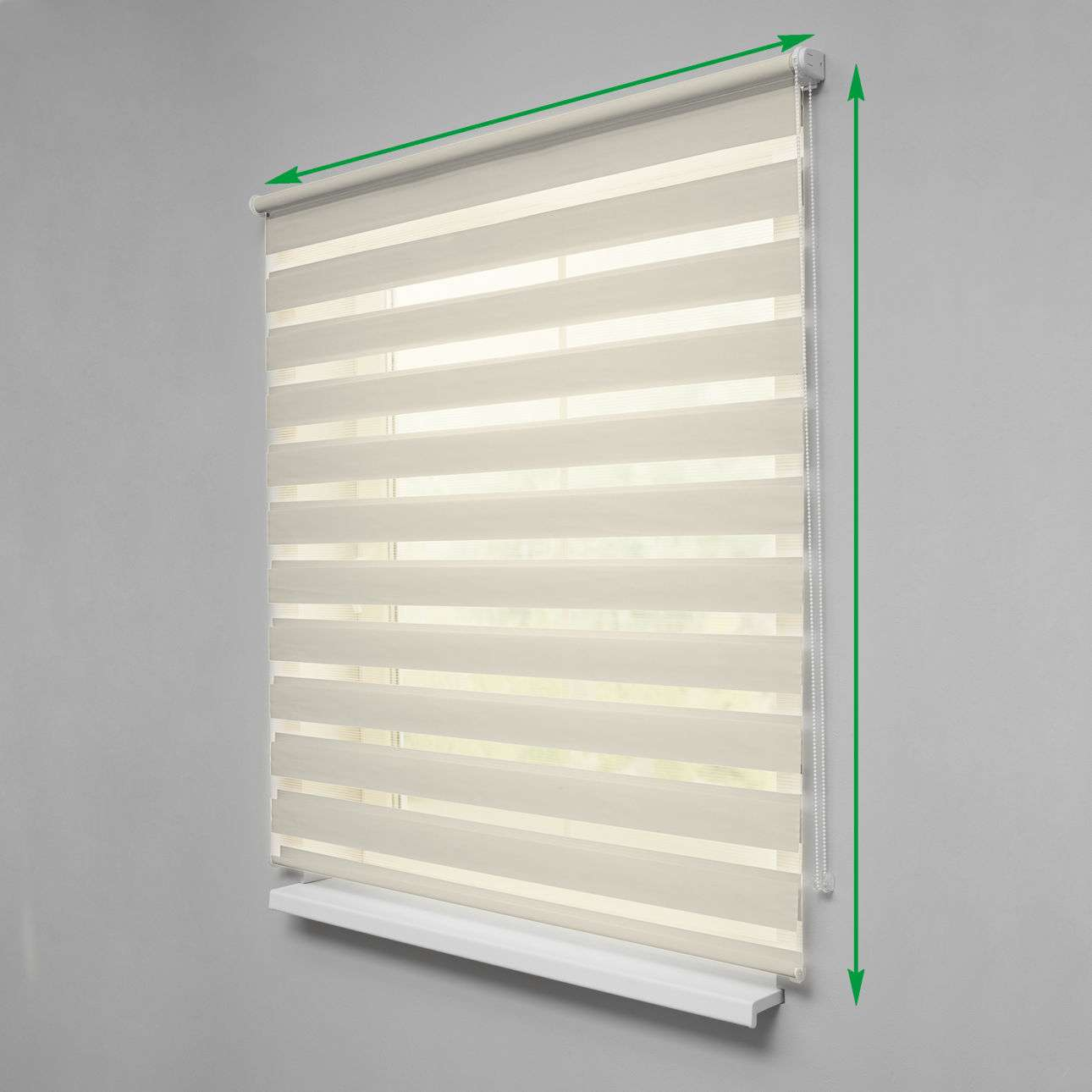 Day & Night Roller Blind in collection Roller blinds Day & Night (Venetian blind), fabric: 0105