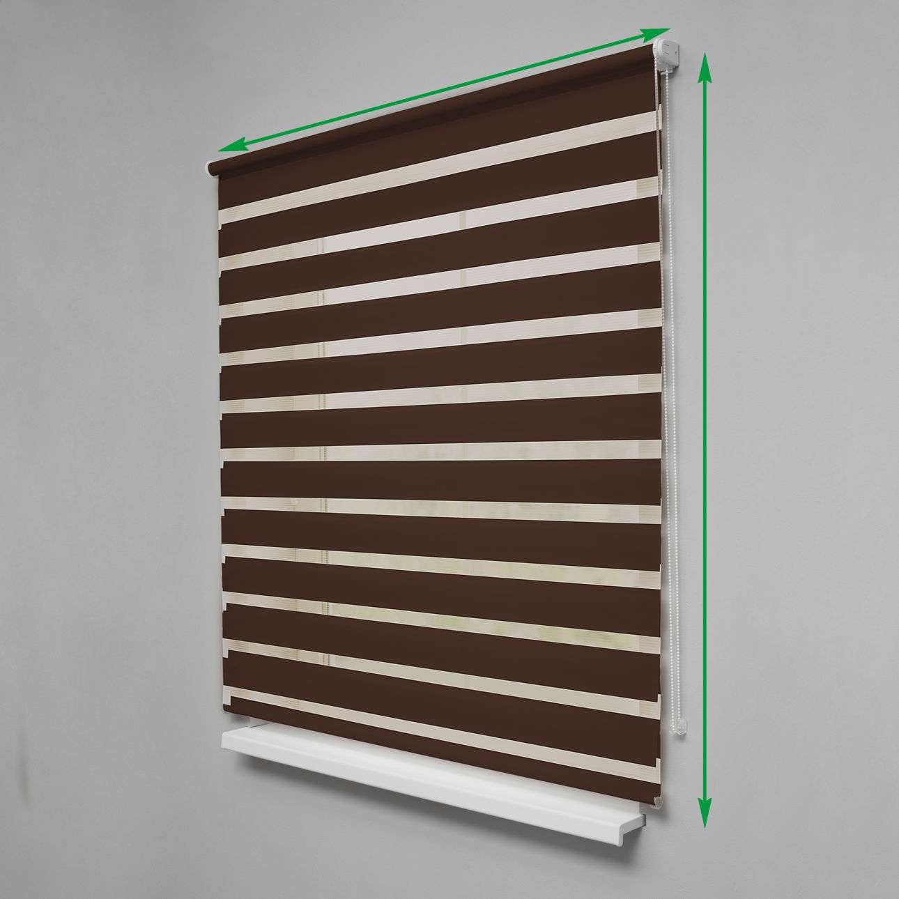 Day & Night Roller Blind in collection Roller blinds Day & Night (Venetian blind), fabric: 0216