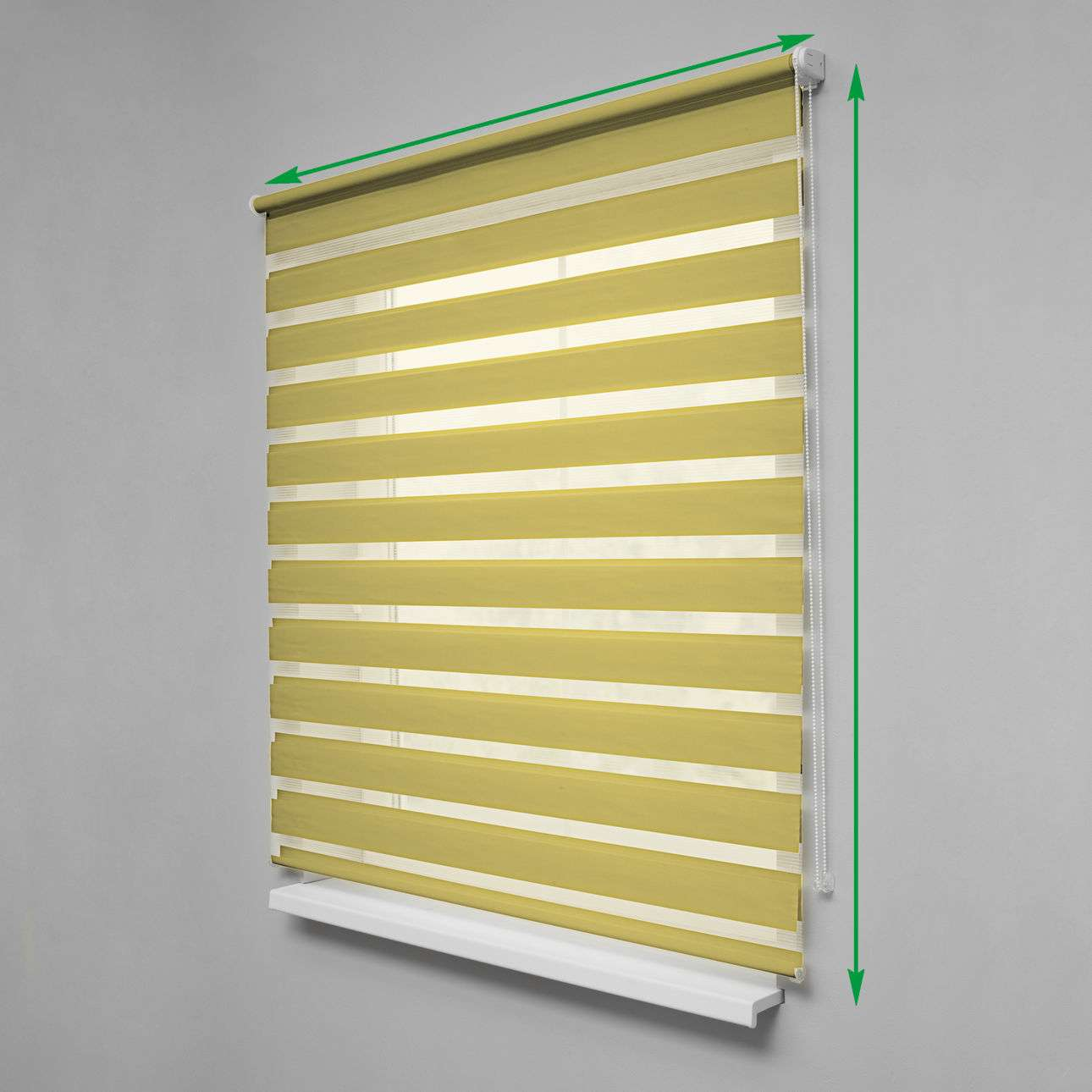 Day & Night Venetian roller blind in collection Roller blinds Day & Night (Venetian blind), fabric: 1206