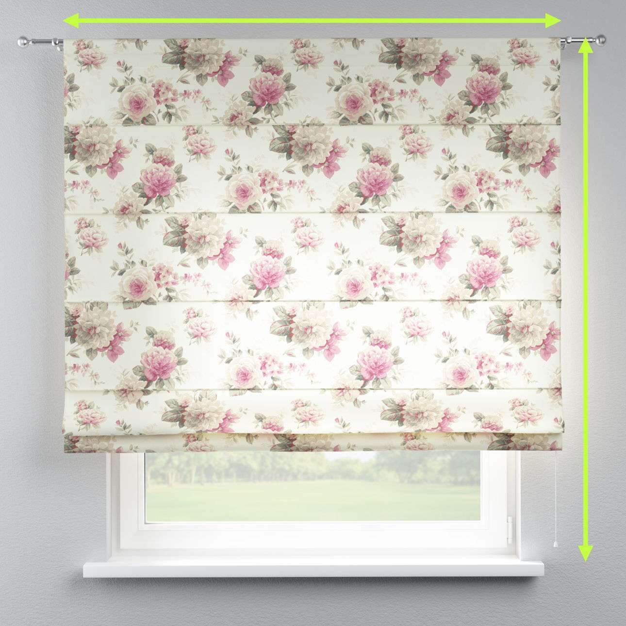 Torino slot roman blind in collection Londres, fabric: 141-07