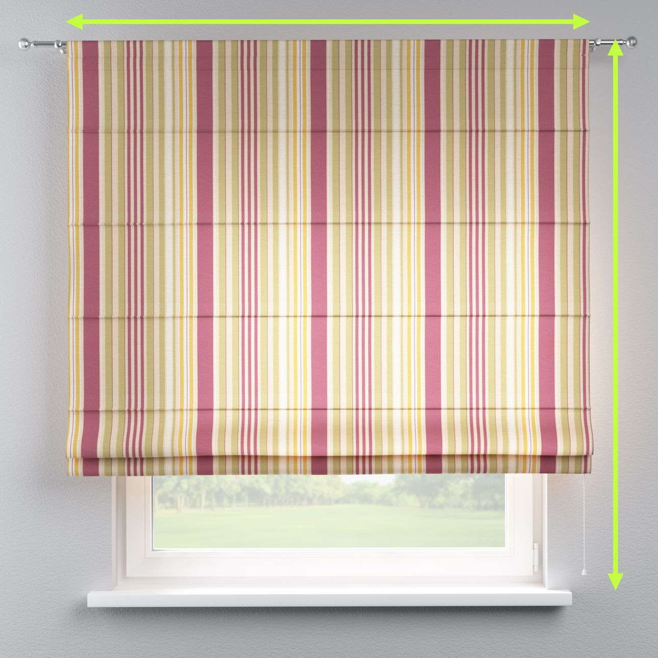 Torino slot roman blind in collection Londres, fabric: 122-09