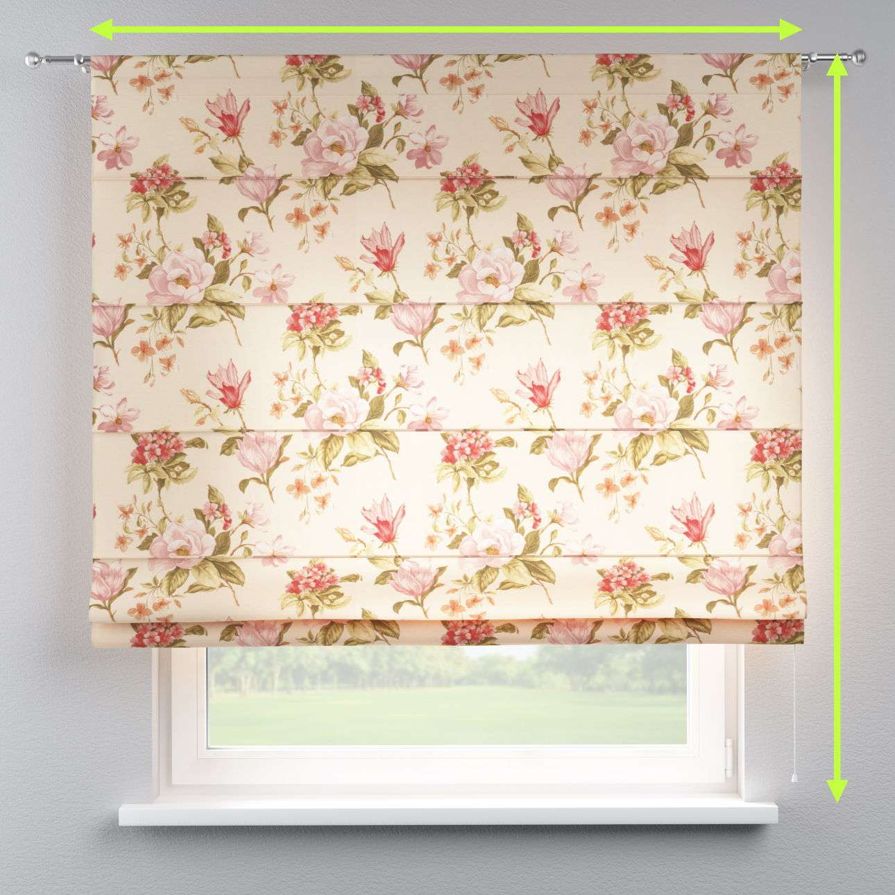 Torino slot roman blind in collection Londres, fabric: 123-05