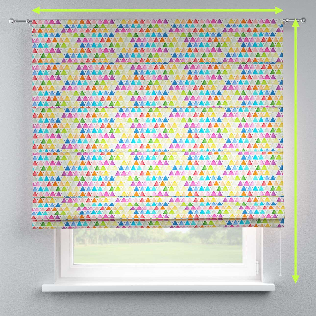 Torino slot roman blind in collection New Art, fabric: 140-27