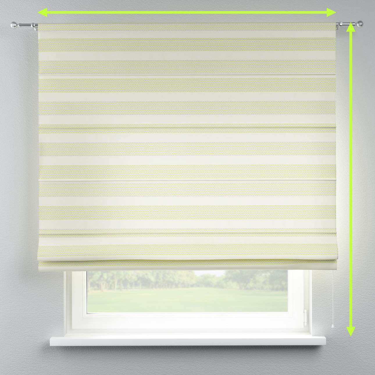 Torino slot roman blind in collection Rustica, fabric: 140-35