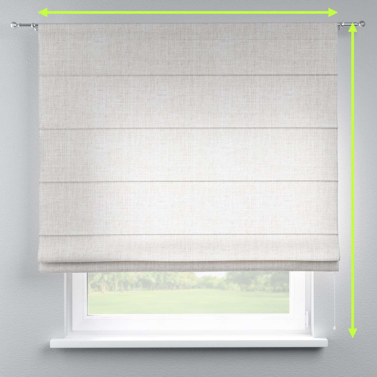 Torino slot roman blind in collection Aquarelle, fabric: 140-75