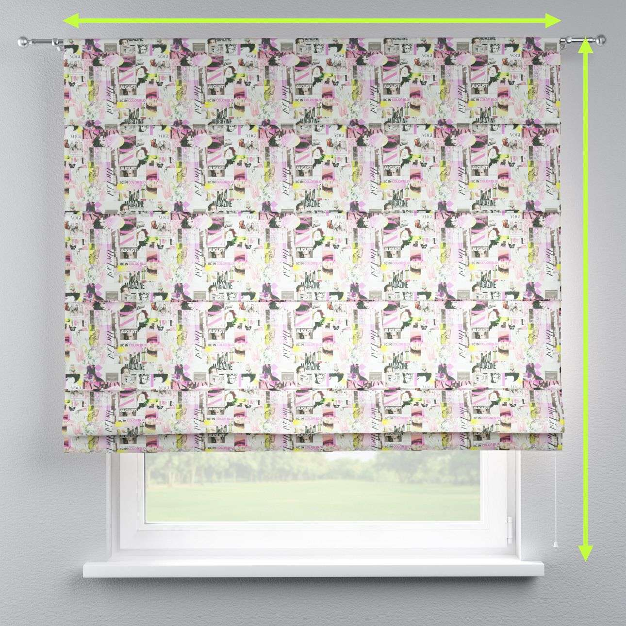 Torino slot roman blind in collection Freestyle, fabric: 135-15