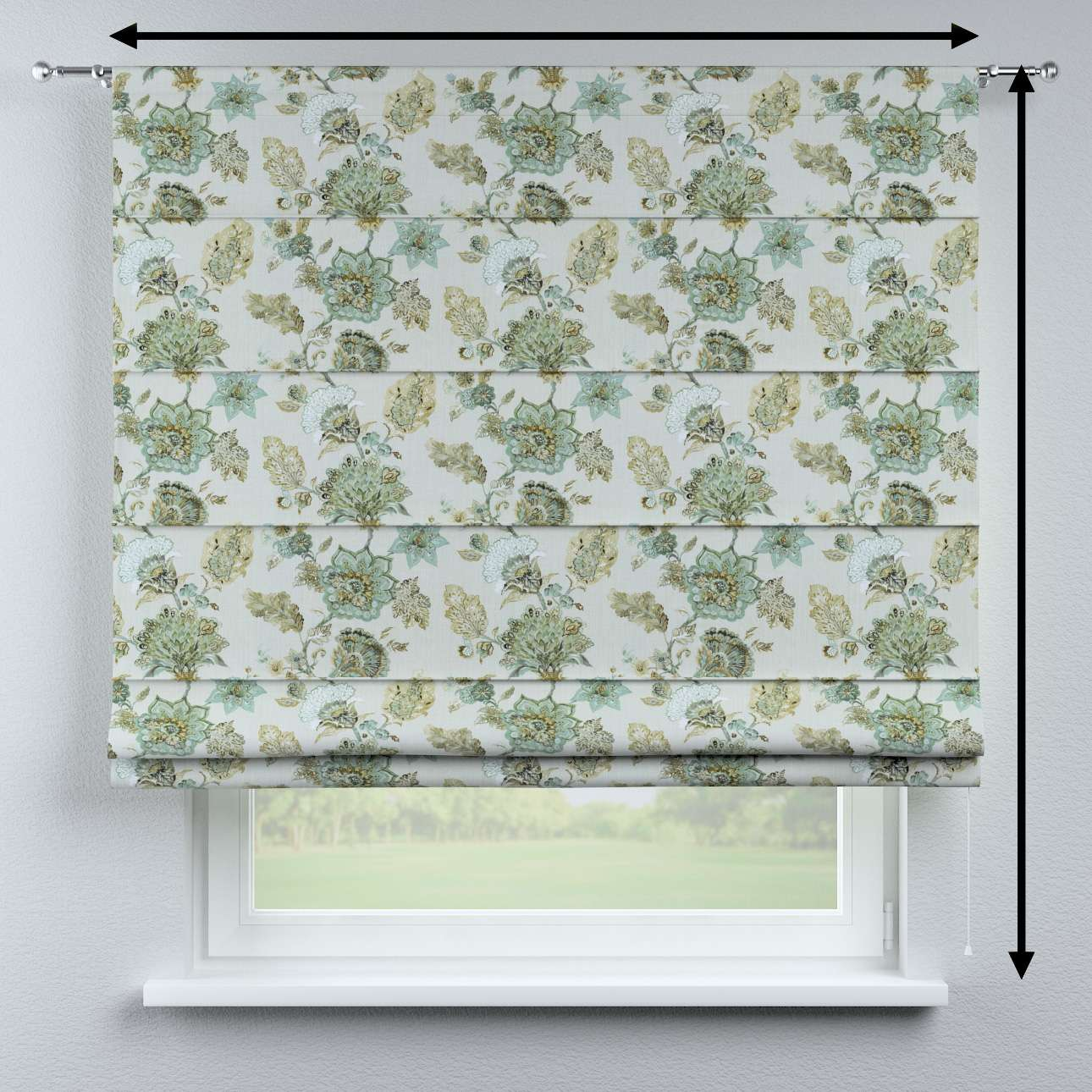 Rímska roleta Torino V kolekcii Flowers, tkanina: 143-67