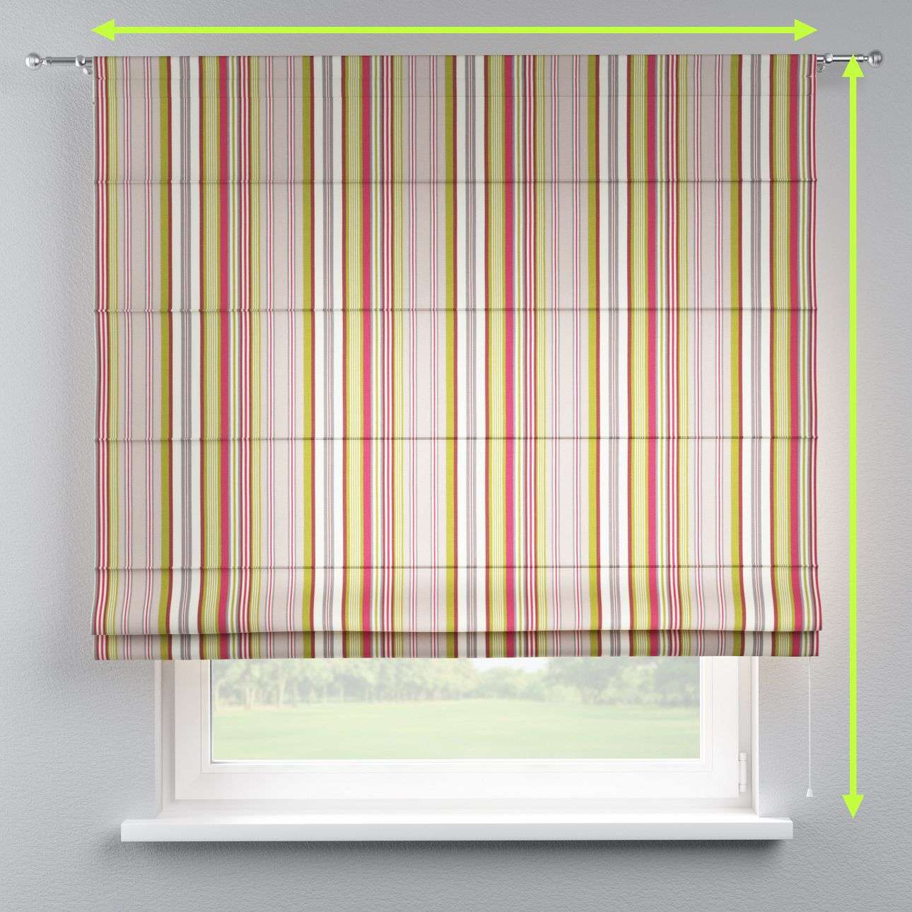 Torino slot roman blind in collection Flowers, fabric: 311-16
