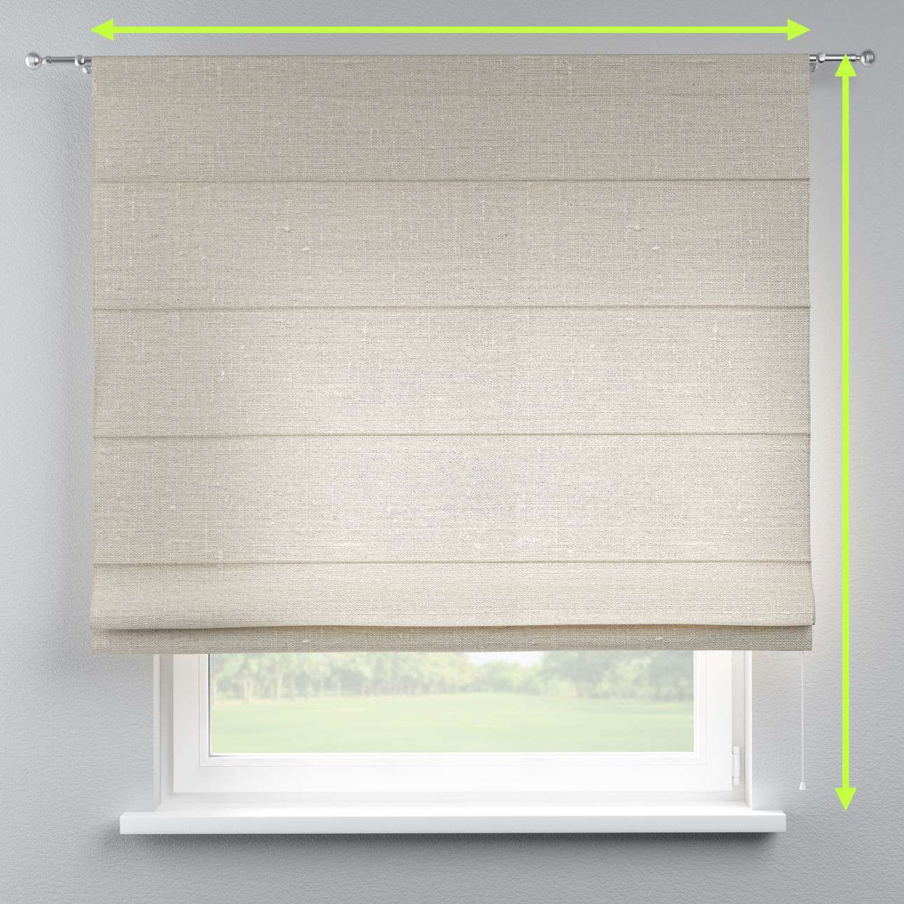 Torino slot roman blind in collection Linen, fabric: 392-05