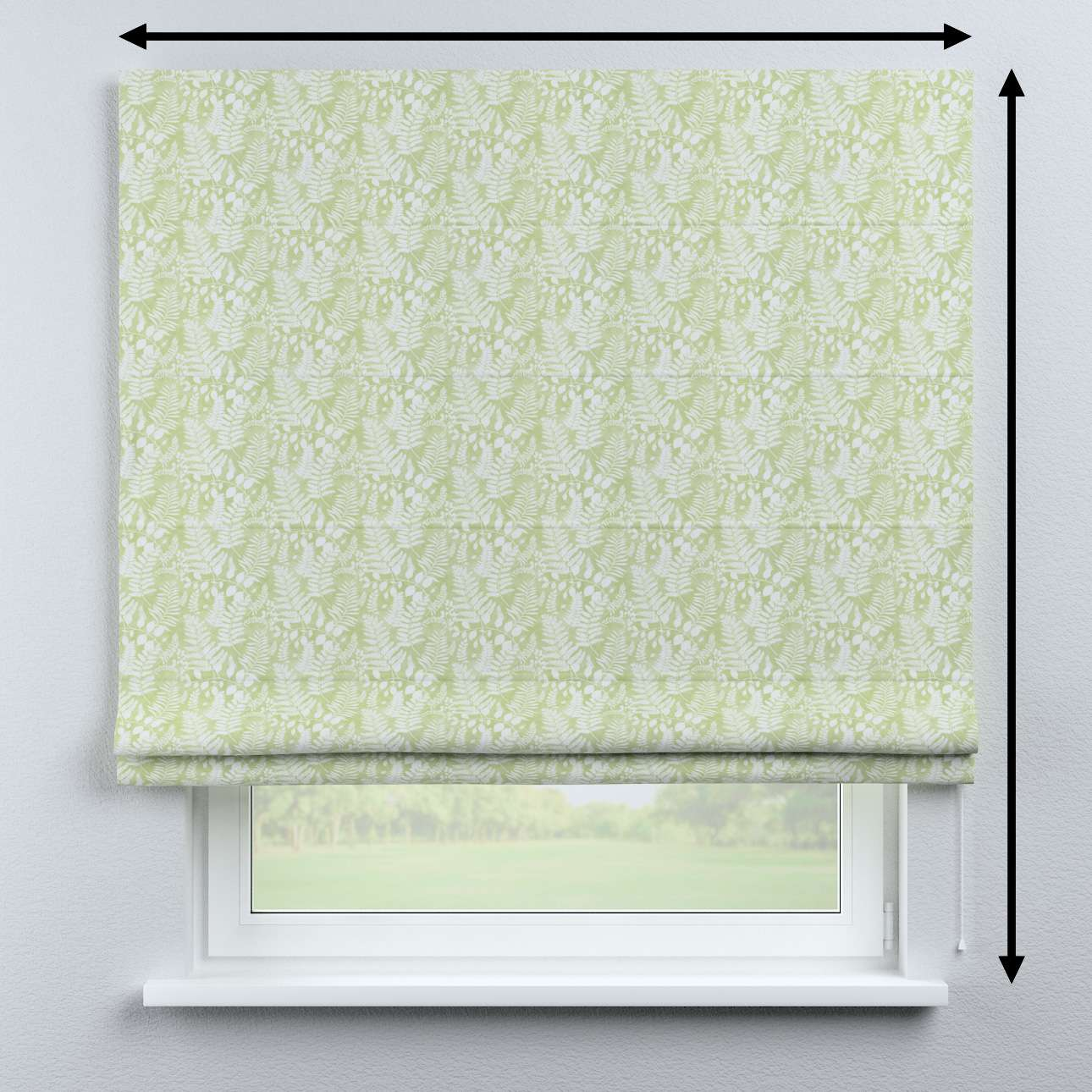 Bari roman blind in collection Pastel Forest, fabric: 142-49