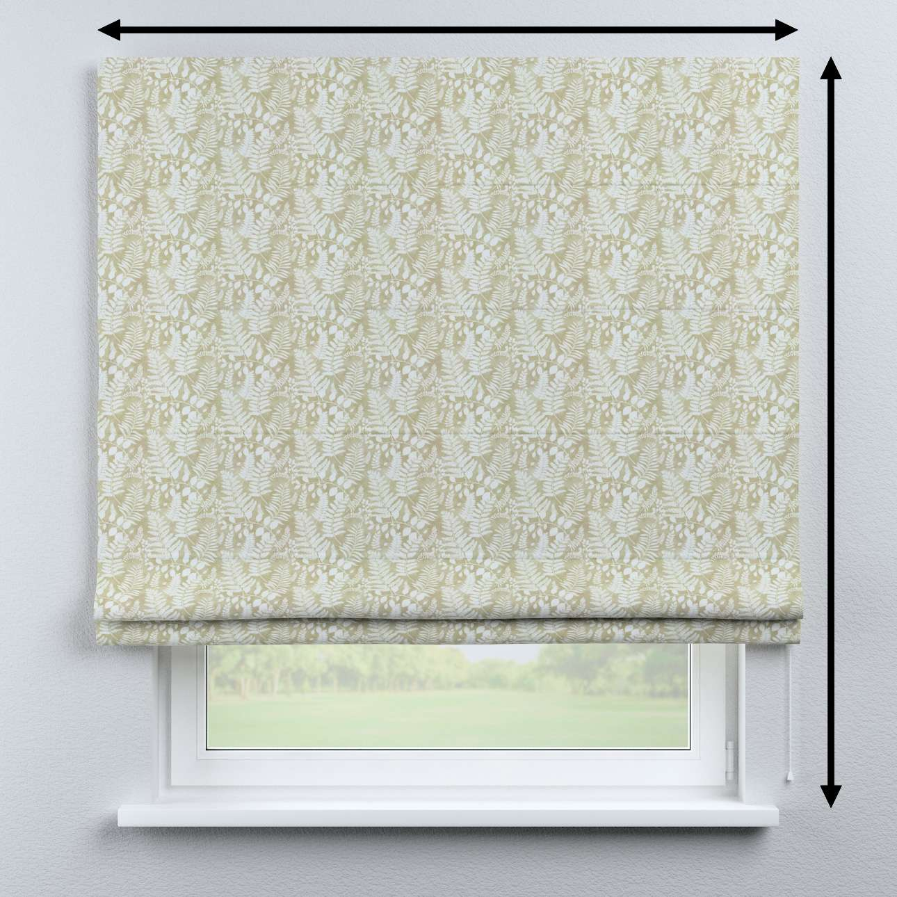 Bari roman blind in collection Pastel Forest, fabric: 142-50