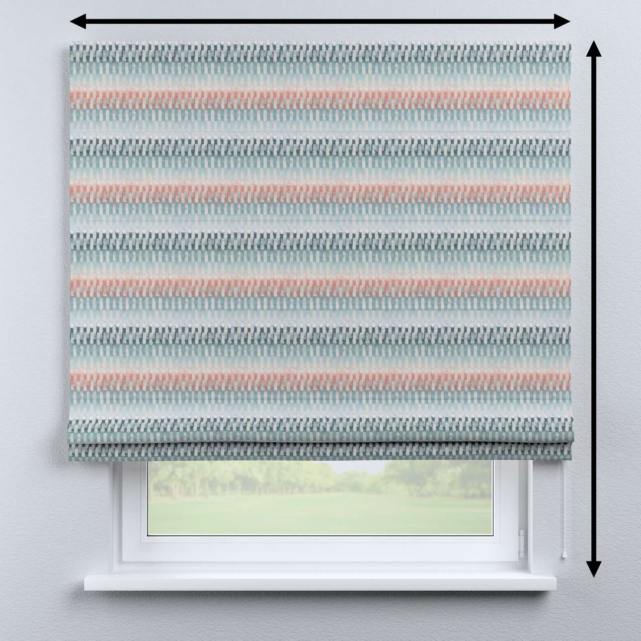 Bari roman blind in collection Pastel Forest, fabric: 142-51