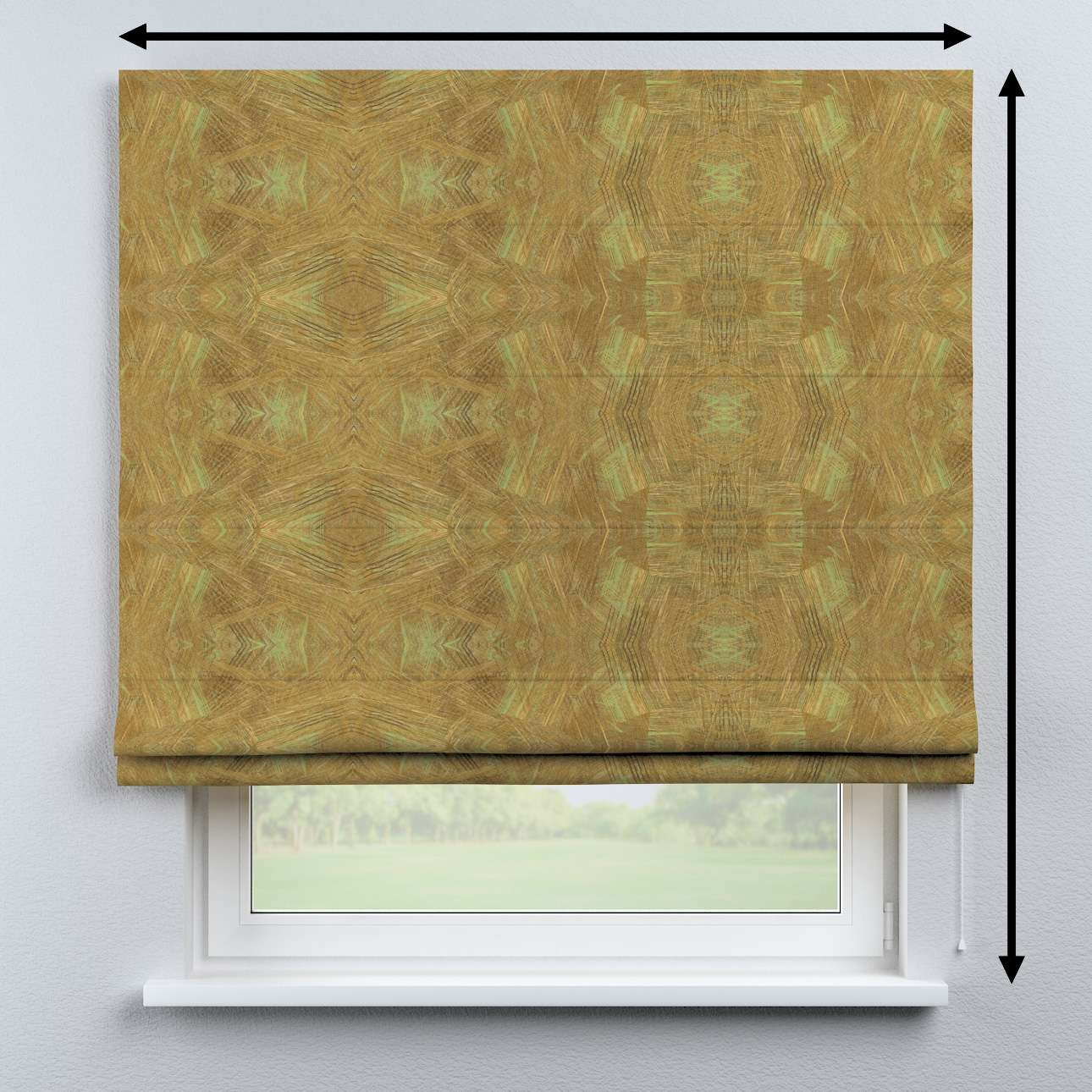 Bari roman blind in collection Tropical Island, fabric: 142-59