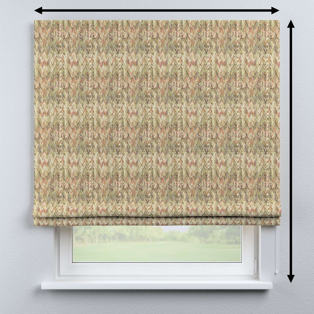 Bari roman blind in collection Tropical Island, fabric: 142-66