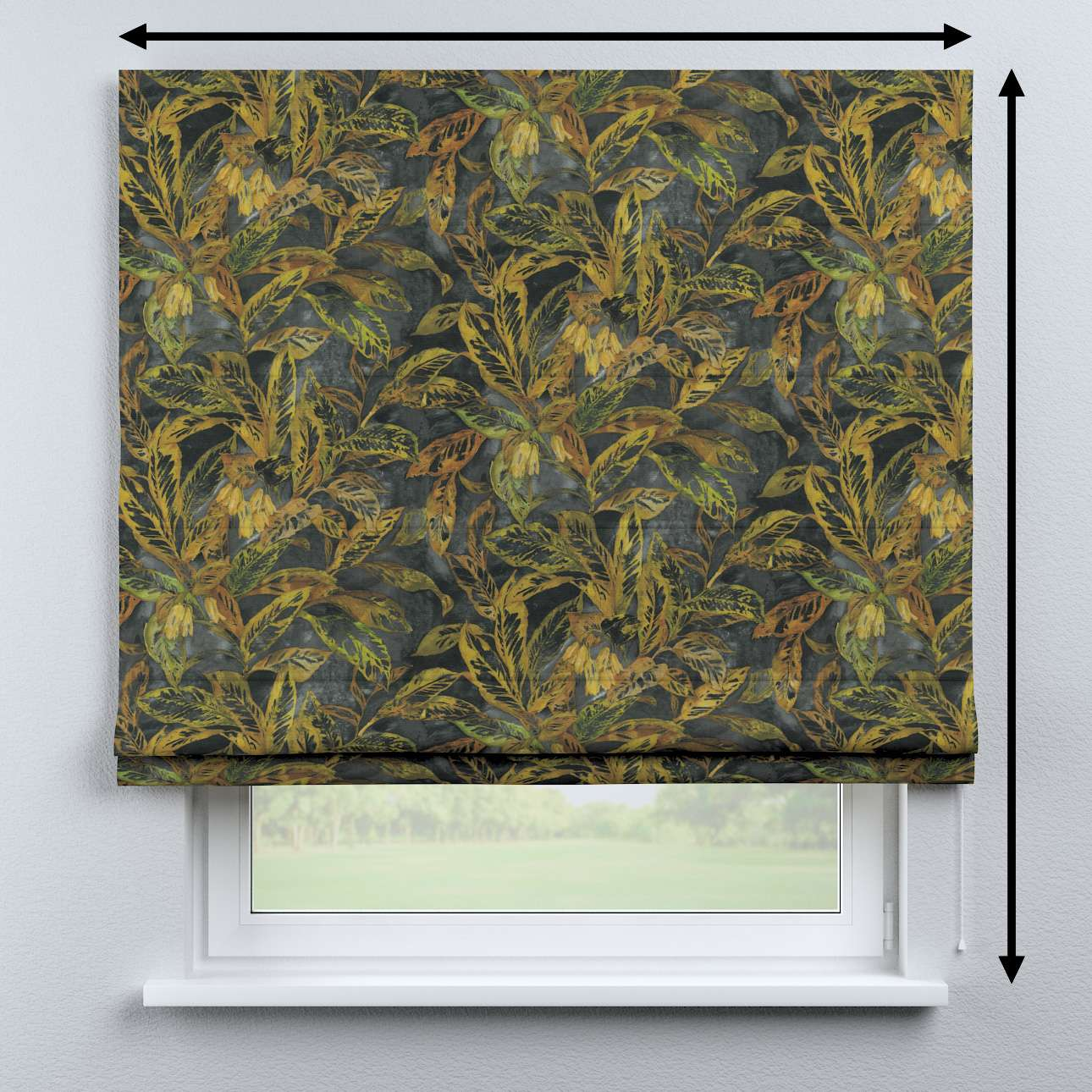 Bari roman blind in collection Abigail, fabric: 143-01