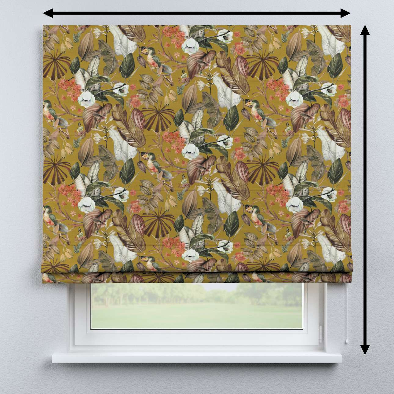 Bari roman blind in collection Abigail, fabric: 143-09