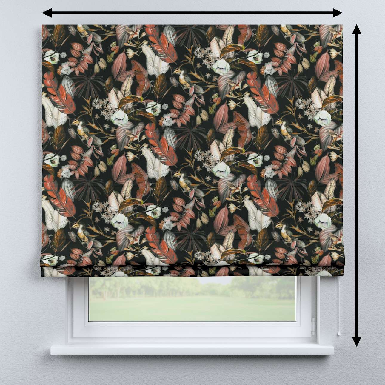 Bari roman blind in collection Abigail, fabric: 143-10