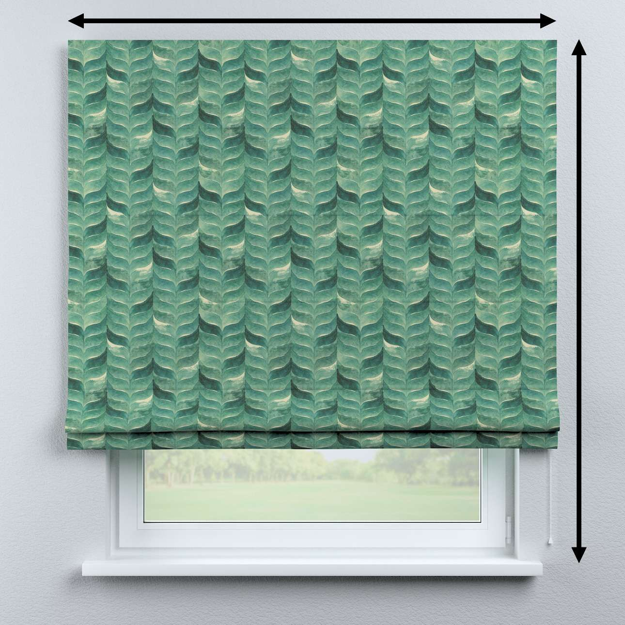 Bari roman blind in collection Abigail, fabric: 143-16