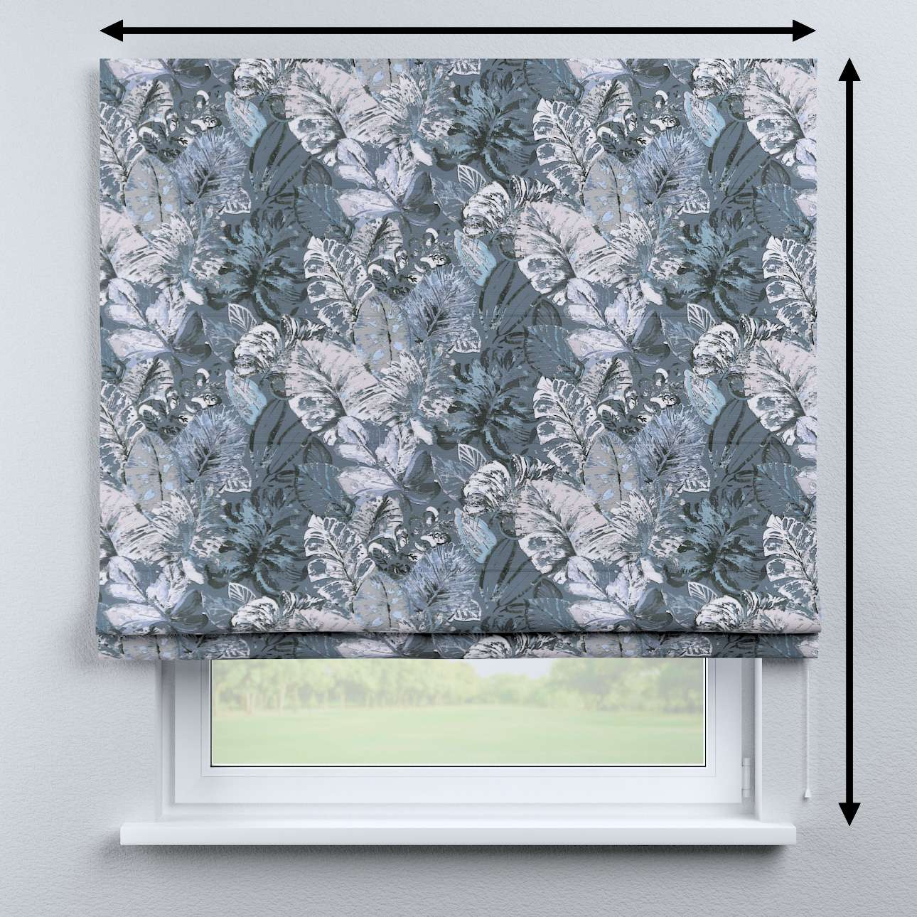 Bari roman blind in collection Abigail, fabric: 143-18