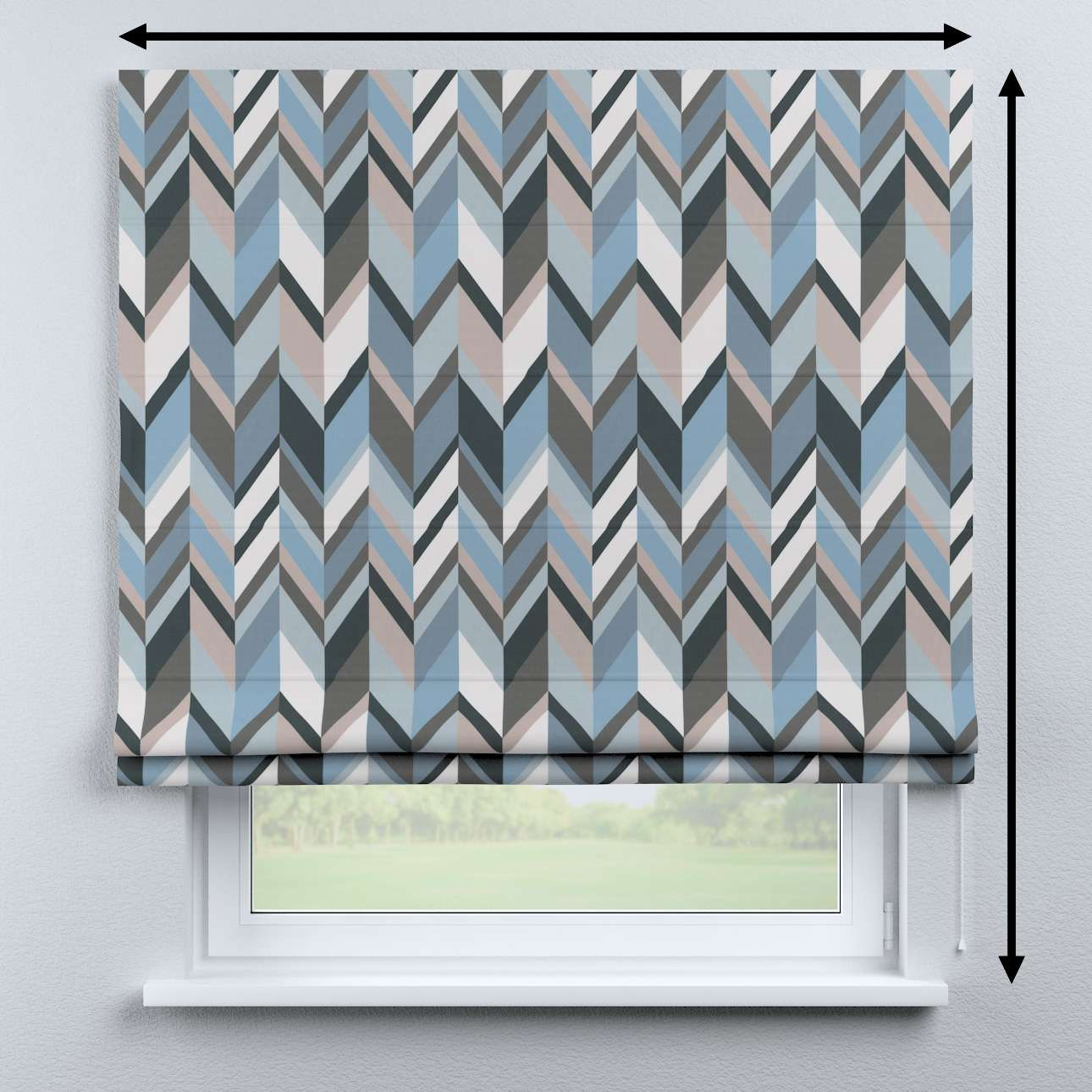 Bari roman blind in collection Vintage 70's, fabric: 143-54