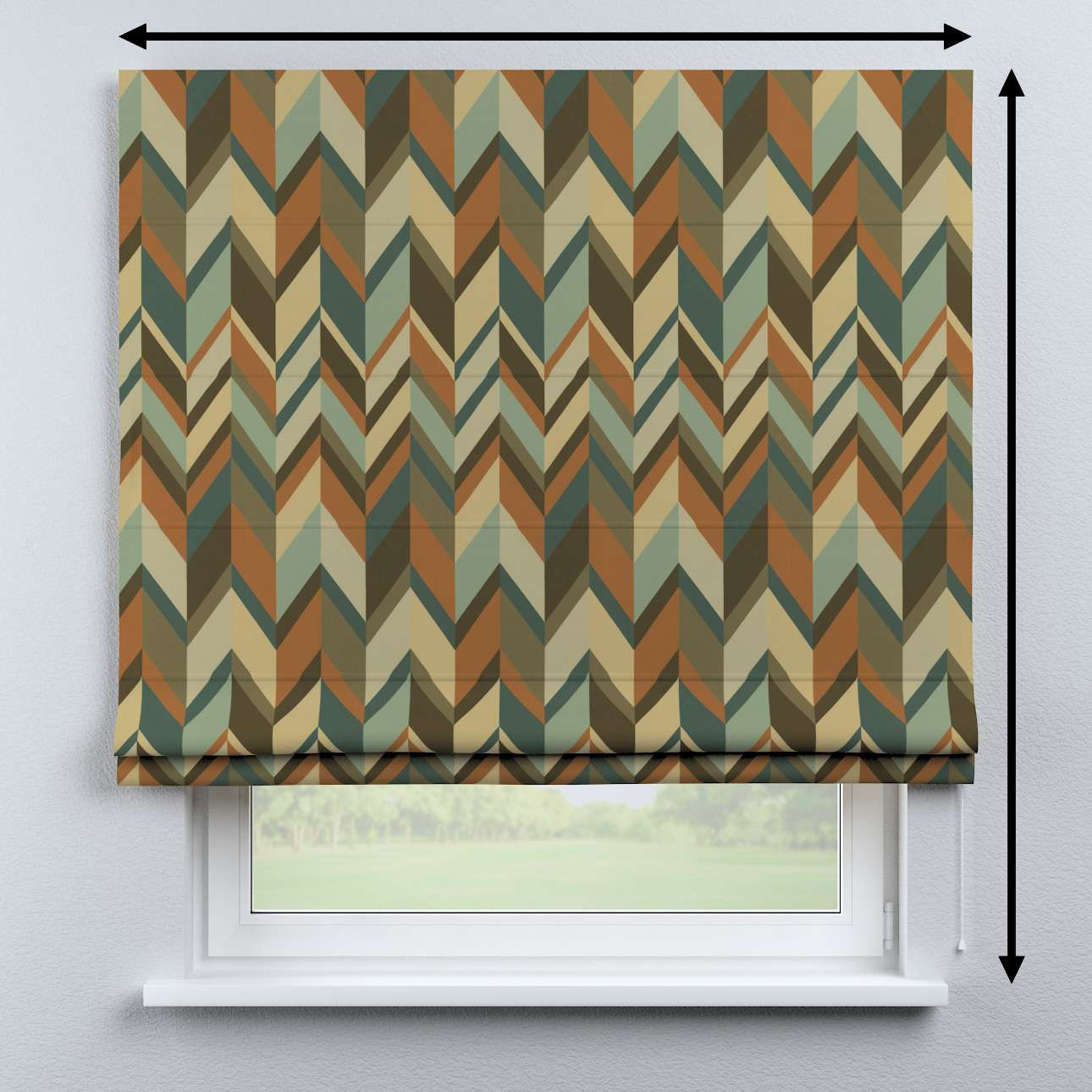 Bari roman blind in collection Vintage 70's, fabric: 143-55